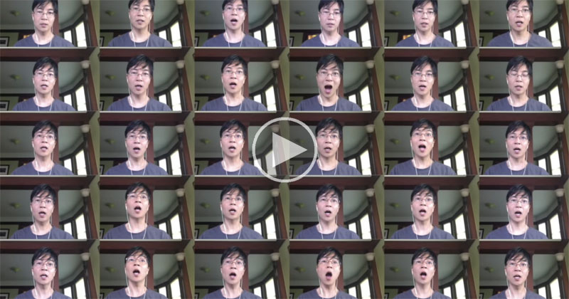 Guy Attempts 30 Voice A Cappella of the Recently Released THX