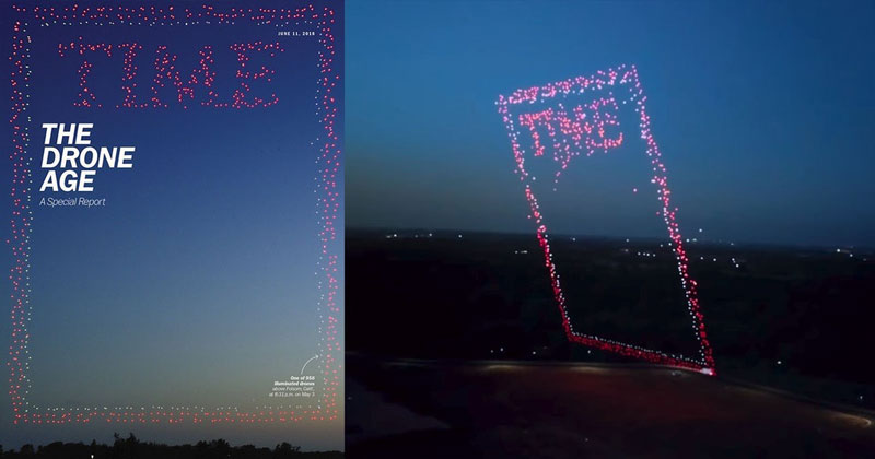 TIME's Latest Cover is a Drone Photo of 958 Drones