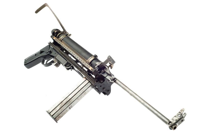 typewriter gun sculptures by ravi zupa mightier than series 1 Sculptural Guns Made from Typewriters Because Words are Mightier