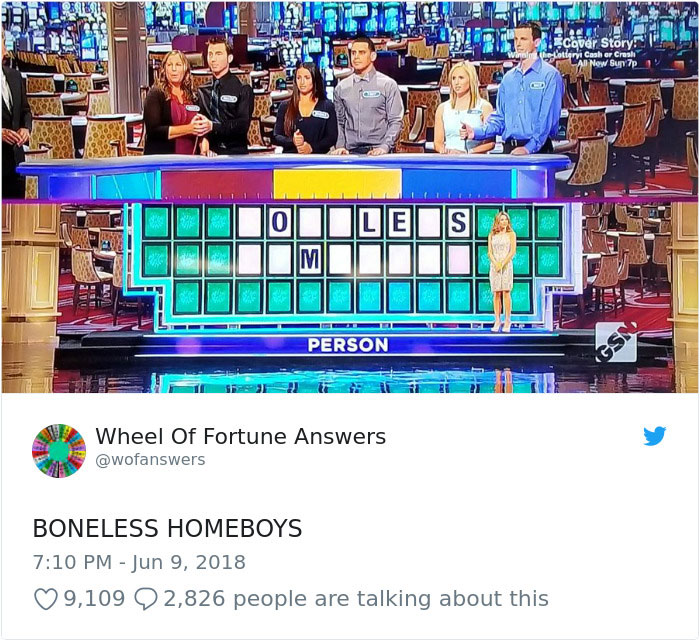 wheel of fortune answers twitter parody account 1 This Wheel of Fortune Parody Accounts Attempts to Solve the Puzzle are Amazing