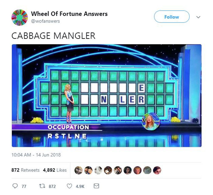 wheel of fortune answers twitter parody account 11 This Wheel of Fortune Parody Accounts Attempts to Solve the Puzzle are Amazing