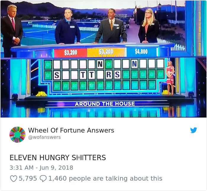 wheel of fortune answers twitter parody account 13 This Wheel of Fortune Parody Accounts Attempts to Solve the Puzzle are Amazing