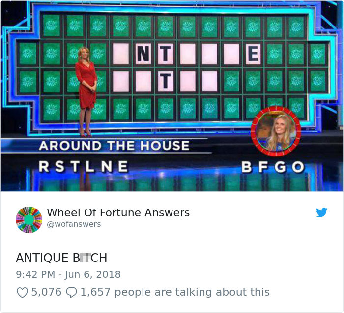 wheel of fortune answers twitter parody account 15 This Wheel of Fortune Parody Accounts Attempts to Solve the Puzzle are Amazing