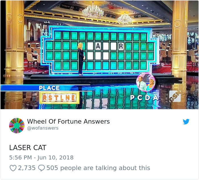 wheel of fortune answers twitter parody account 5 This Wheel of Fortune Parody Accounts Attempts to Solve the Puzzle are Amazing
