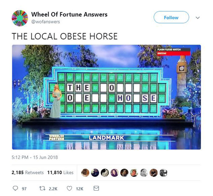 wheel of fortune answers twitter parody account 7 This Wheel of Fortune Parody Accounts Attempts to Solve the Puzzle are Amazing
