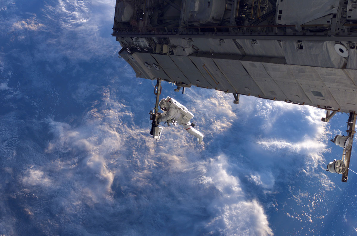 working on iss in space The Great Outdoors