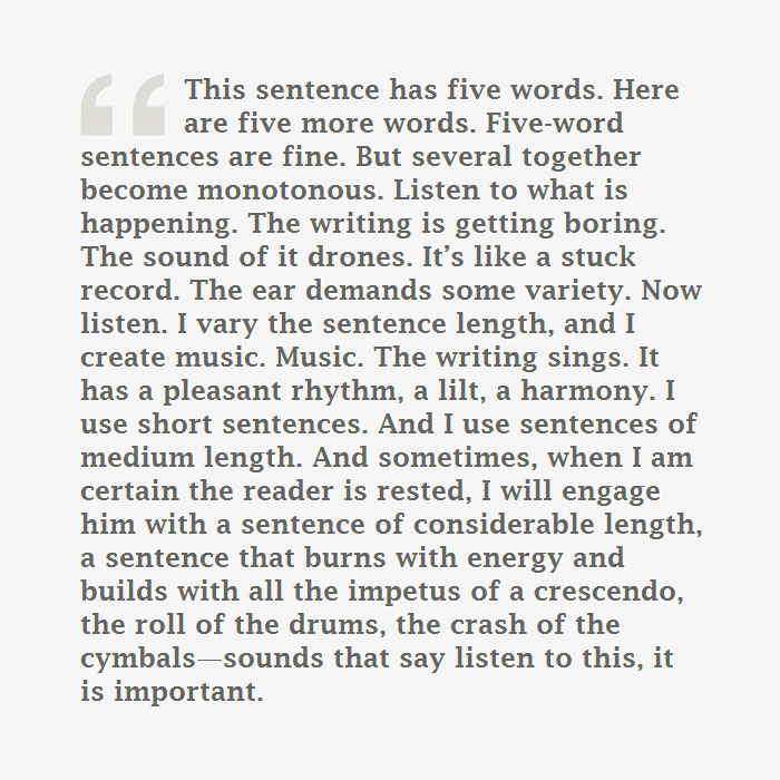 gary provost quote on writing The Importance of Sentence Length in Writing