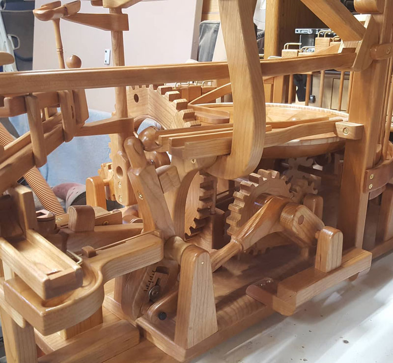 gravity well marble machines by larry marley 2 The Fantastic Gravity Well Marble Machines of Larry Marley