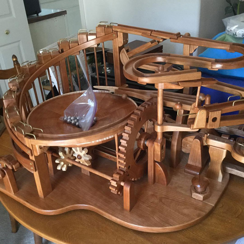 gravity well marble machines by larry marley 3 The Fantastic Gravity Well Marble Machines of Larry Marley