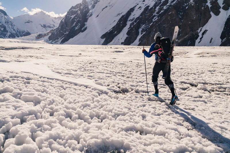 k2 first descent on skis andrzej bargiel red bull july 22 2018 1 First Descent: Polish Mountaineer Andrzej Bargiel Skies Down From the Top of K2