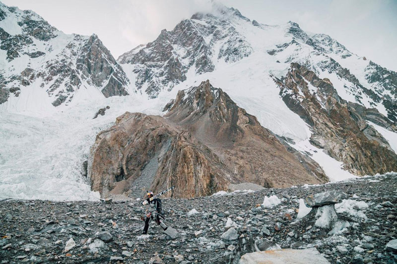 k2 first descent on skis andrzej bargiel red bull july 22 2018 3 First Descent: Polish Mountaineer Andrzej Bargiel Skies Down From the Top of K2