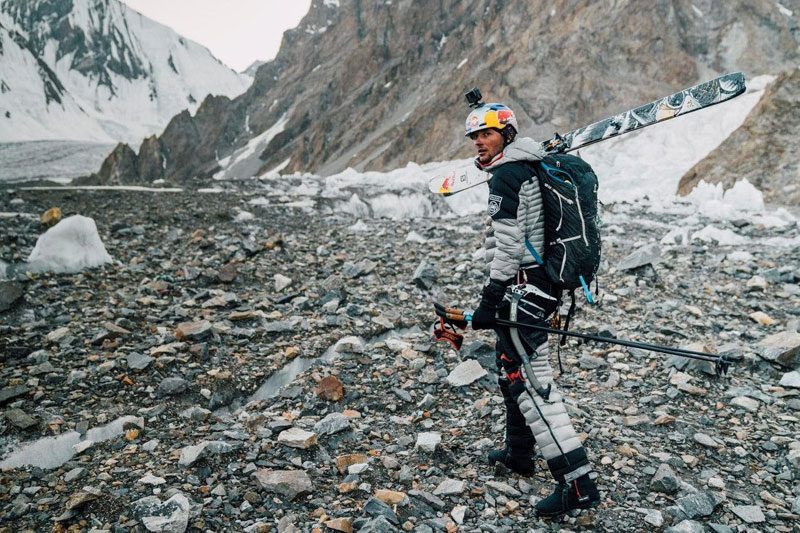 k2 first descent on skis andrzej bargiel red bull july 22 2018 4 First Descent: Polish Mountaineer Andrzej Bargiel Skies Down From the Top of K2