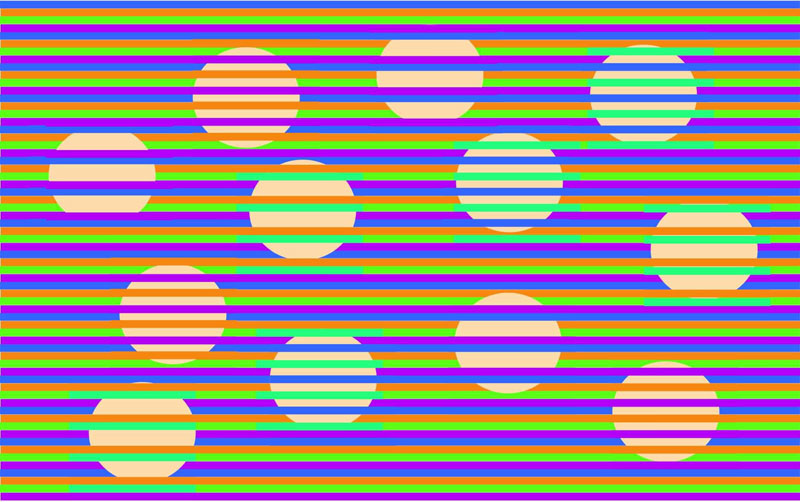 new munker illusion all circles the same color confetti bydavid novick 1 Confetti, a New Munker Illusion Where Every Dot is Actually the Same Color