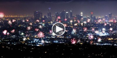 News Chopper Captures July 4th Fireworks All Over LA Even Though They're Illegal