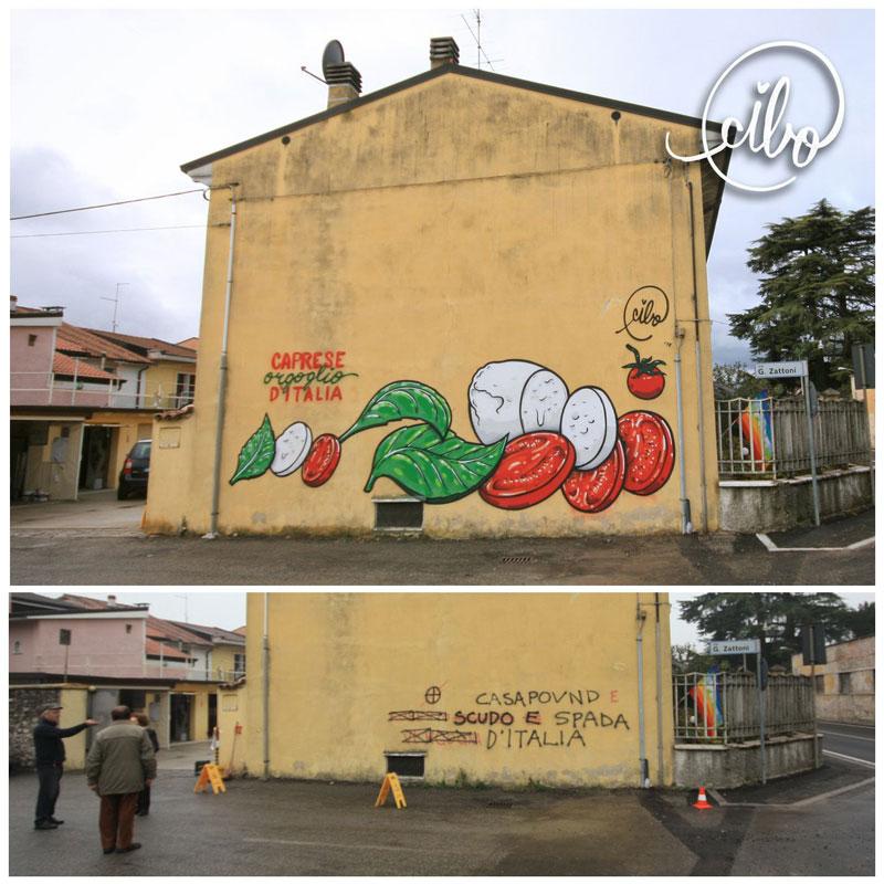 street artist cibo is fighting nazis with giant images of food 11 This Street Artist is Fighting Nazis With Giant Images of Food
