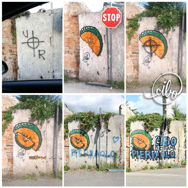 street artist cibo is fighting nazis with giant images of food 12 This Street Artist is Fighting Nazis With Giant Images of Food