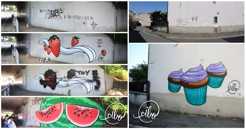 street artist cibo is fighting nazis with giant images of food 15 This Street Artist is Fighting Nazis With Giant Images of Food