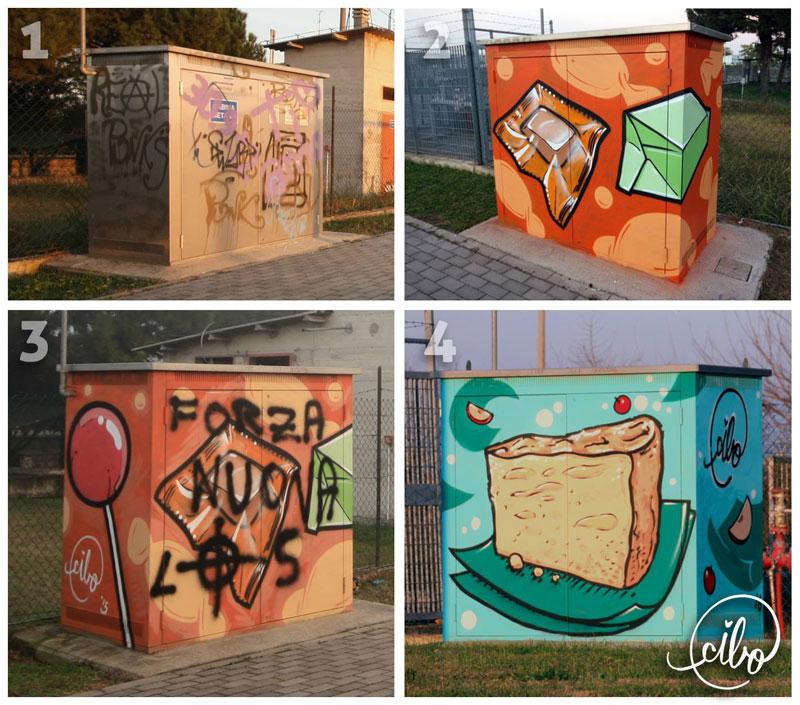 street artist cibo is fighting nazis with giant images of food 2 This Street Artist is Fighting Nazis With Giant Images of Food