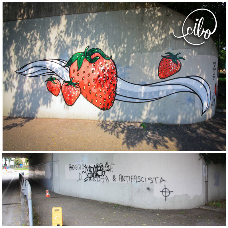 street artist cibo is fighting nazis with giant images of food 5 This Street Artist is Fighting Nazis With Giant Images of Food