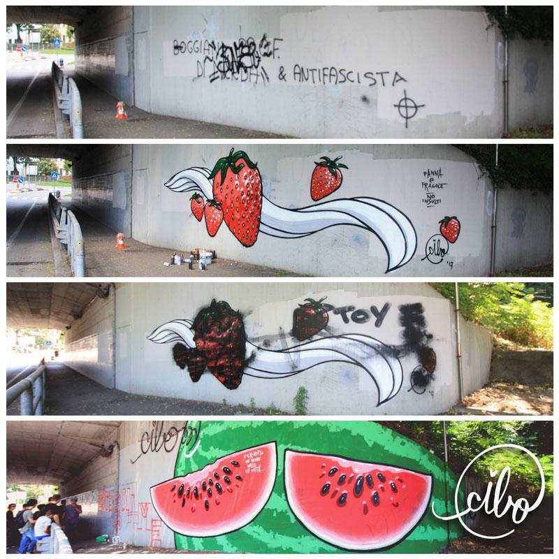 street artist cibo is fighting nazis with giant images of food 6 This Street Artist is Fighting Nazis With Giant Images of Food