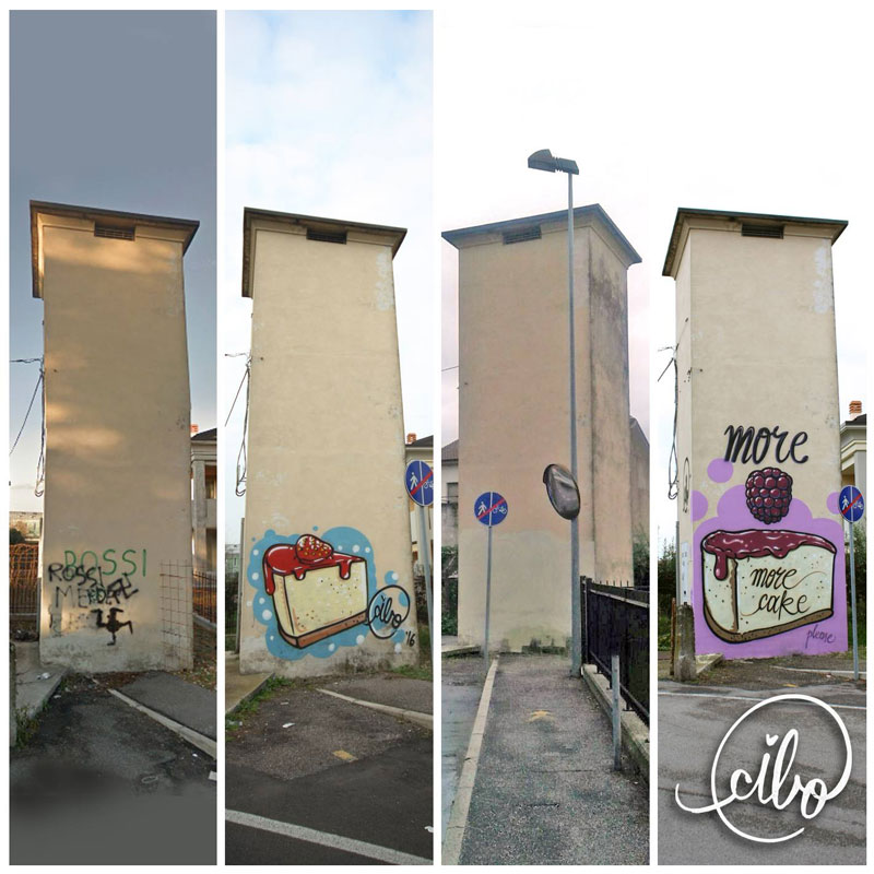 street artist cibo is fighting nazis with giant images of food 7 This Street Artist is Fighting Nazis With Giant Images of Food