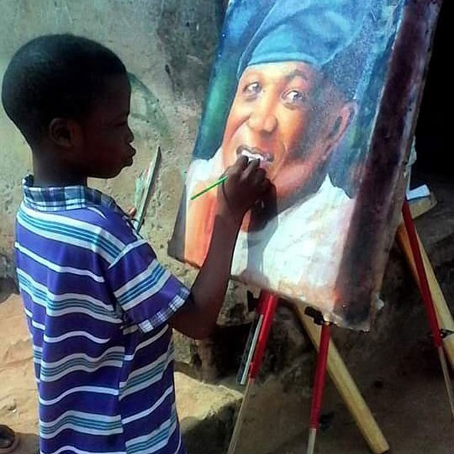 11 year old hyperrealist artist kareem waris olamilekan waspa nigeria 1 11 Year Old Hyperrealist from Nigeria Wows With Stunning Artworks