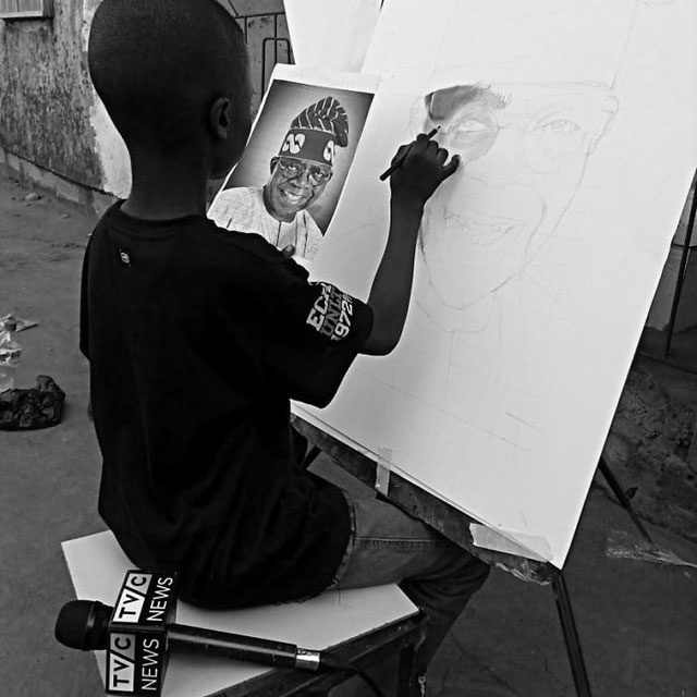 11 year old hyperrealist artist kareem waris olamilekan waspa nigeria 11 11 Year Old Hyperrealist from Nigeria Wows With Stunning Artworks