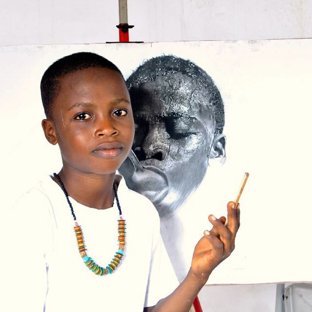 11 year old hyperrealist artist kareem waris olamilekan waspa nigeria 2 11 Year Old Hyperrealist from Nigeria Wows With Stunning Artworks