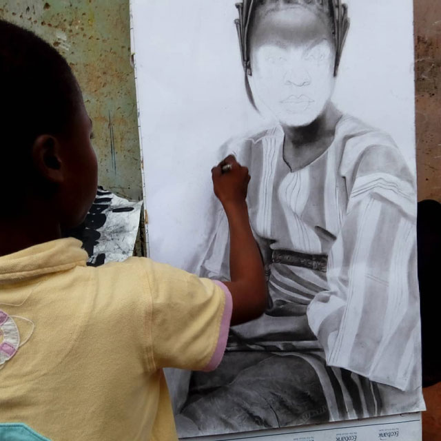 11 year old hyperrealist artist kareem waris olamilekan waspa nigeria 8 11 Year Old Hyperrealist from Nigeria Wows With Stunning Artworks