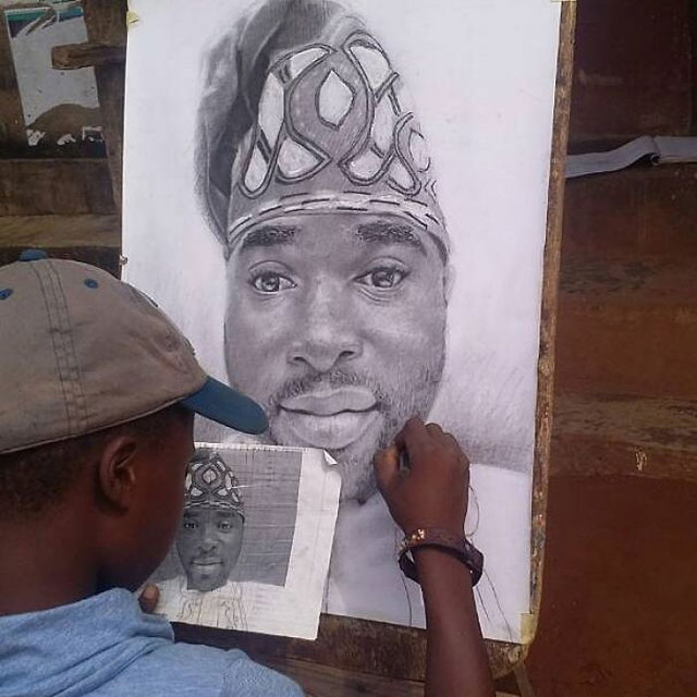 11 year old hyperrealist artist kareem waris olamilekan waspa nigeria 9 11 Year Old Hyperrealist from Nigeria Wows With Stunning Artworks