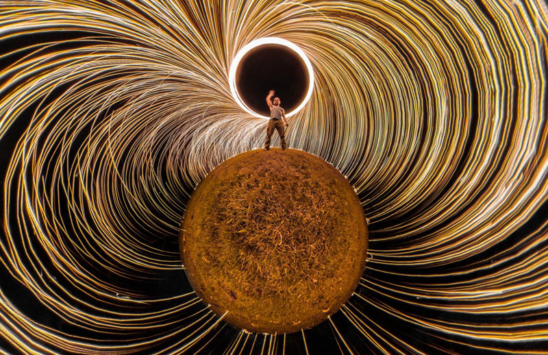 When You Take Your 360 Camera and Some Steel Wool Out for theNight