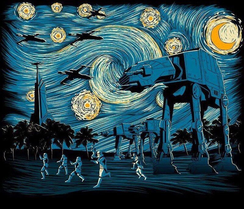 best starry night mashups 1 The 10 Best Starry Night Mashups on the Web