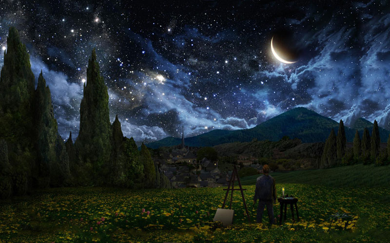best starry night mashups 7 The 10 Best Starry Night Mashups on the Web
