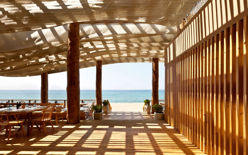 ceiling waves wind ripples beach bar barbouni greece by k studio 4 Check Out What Happens When the Wind Hits the Ceiling of this Beach Bar