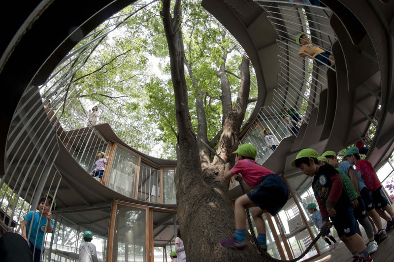 coolest kindergarten ever tezuka architects japan 12 A Japanese Architecture Firm Designed the Coolest Kindergarten Ever