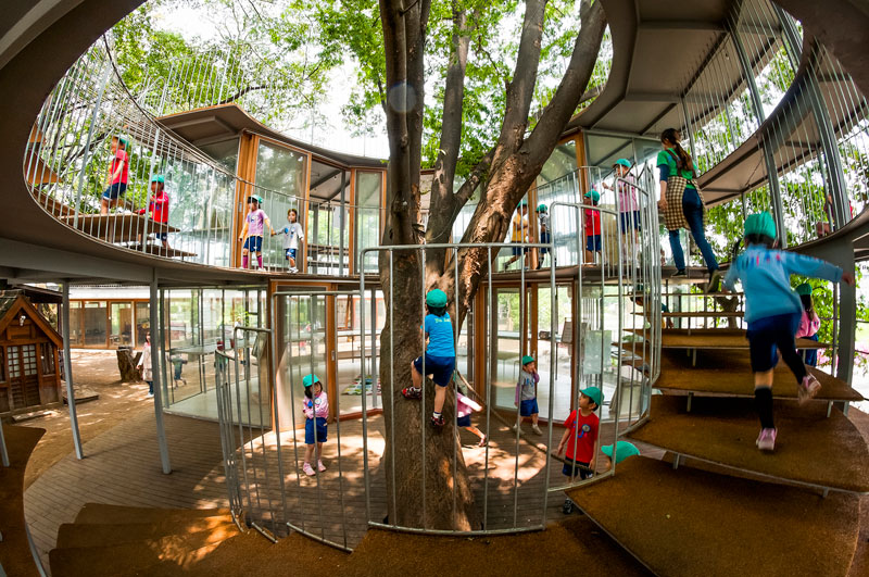 coolest kindergarten ever tezuka architects japan 15 A Japanese Architecture Firm Designed the Coolest Kindergarten Ever