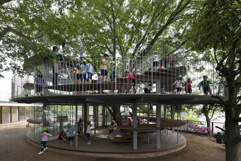 coolest kindergarten ever tezuka architects japan 9 A Japanese Architecture Firm Designed the Coolest Kindergarten Ever