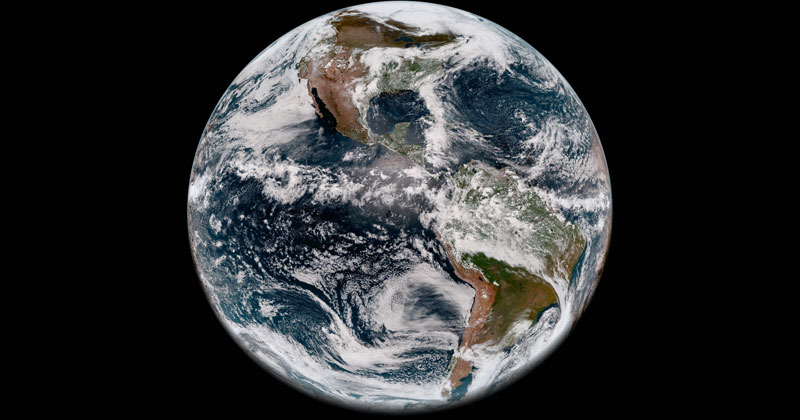 Full Disk Image of Earth's Western Hemisphere Taken May 20, 2018