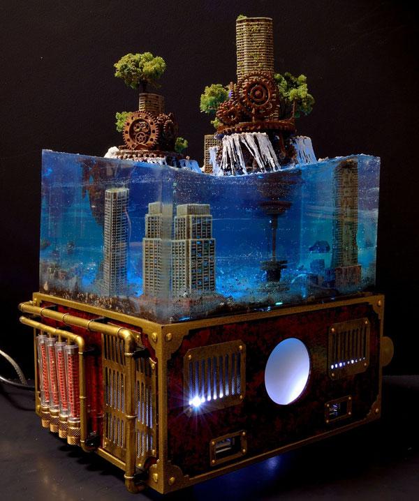 miniature post apocalyptic cityscapes by masaki seki 9 Miniature Post Apocalyptic Cityscapes by Masaki Seki (9 Photos)