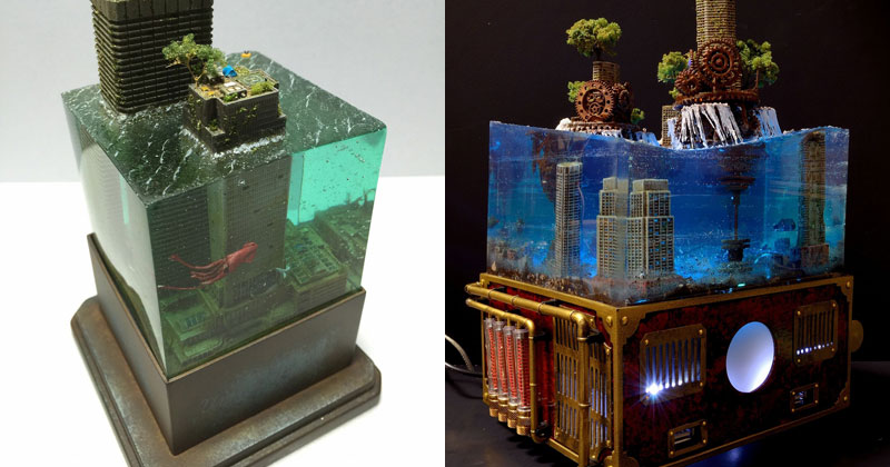 Miniature Post Apocalyptic Cityscapes by Masaki Seki (9 Photos)