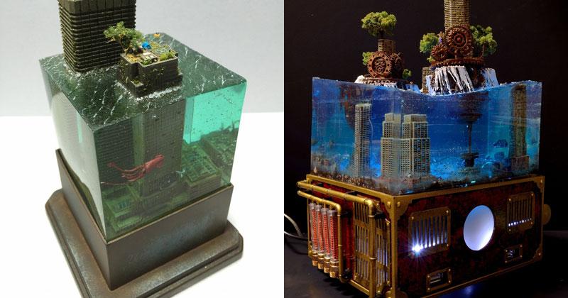 Miniature Post Apocalyptic Cityscapes by Masaki Seki (9Photos)