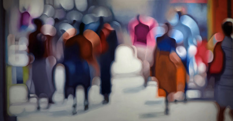 painter philip barlow captures what the world looks like to people with blurry vision 1 Painter Captures What the World Looks Like to People With Blurry Vision