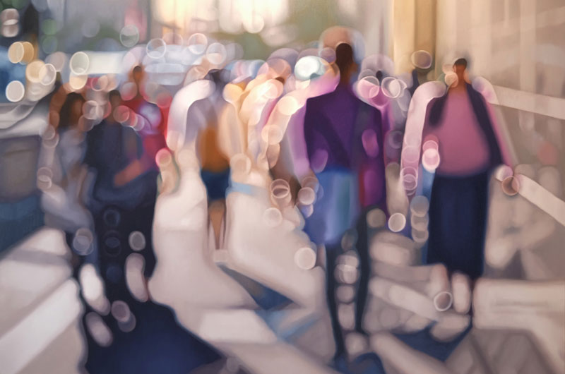 painter philip barlow captures what the world looks like to people with blurry vision 9 Painter Captures What the World Looks Like to People With Blurry Vision