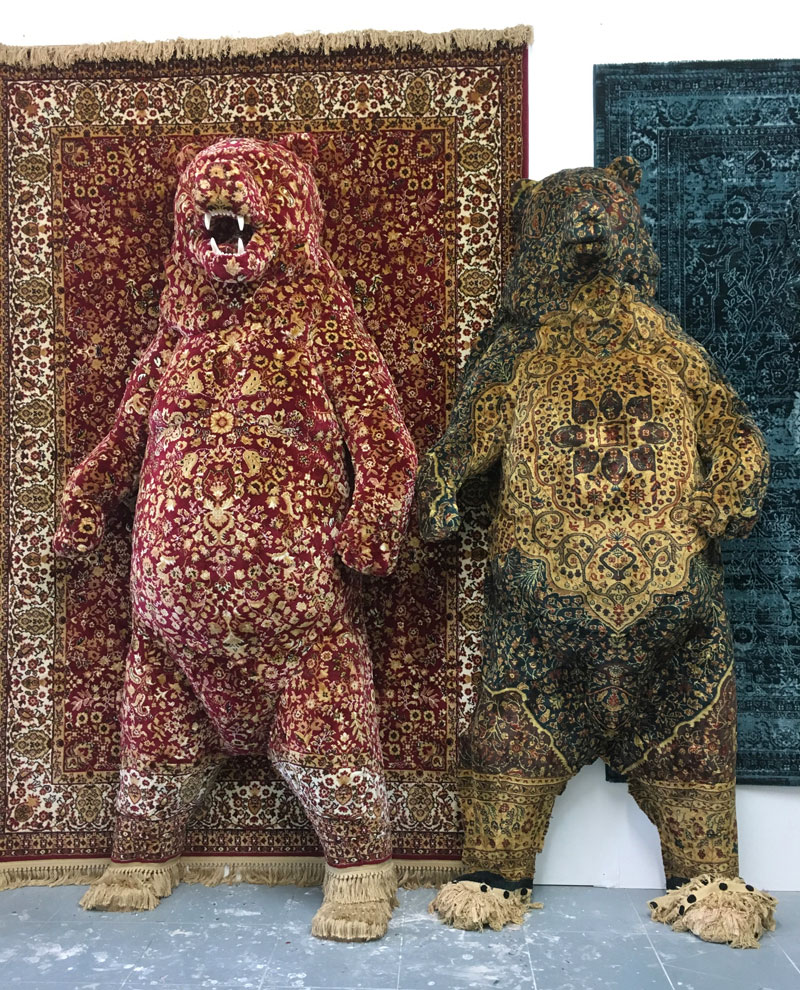 persian bear rugs by debbie lawson 3 These Persian Bear Rugs Are Awesome and I Want Them