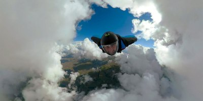 This Wingsuit POV Through a 'Cloud Tunnel' is Blowing MyMind