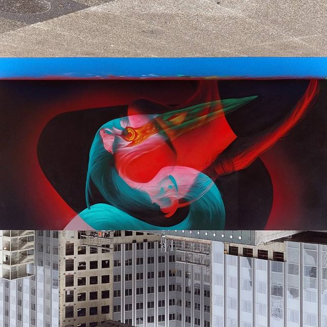 double exposure 3d glasses street art by insane51 6 Double Exposure Murals That Show Multiple Artworks with 3D Glasses