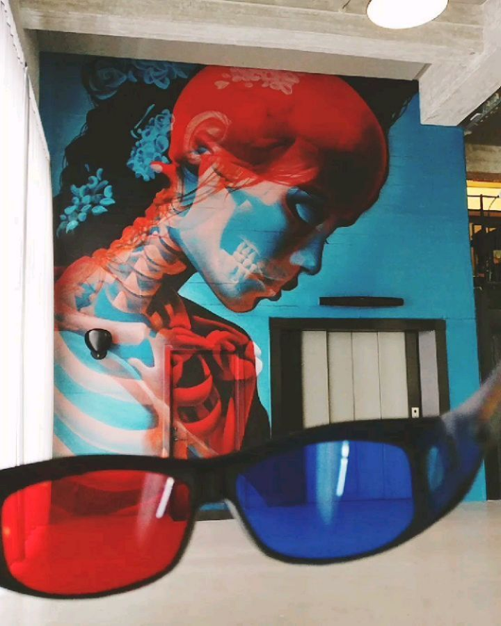 double exposure 3d glasses street art by insane51 7 Double Exposure Murals That Show Multiple Artworks with 3D Glasses