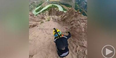 Crazy POV of Pro Rider Kilian Bron Descending FarwellCanyon