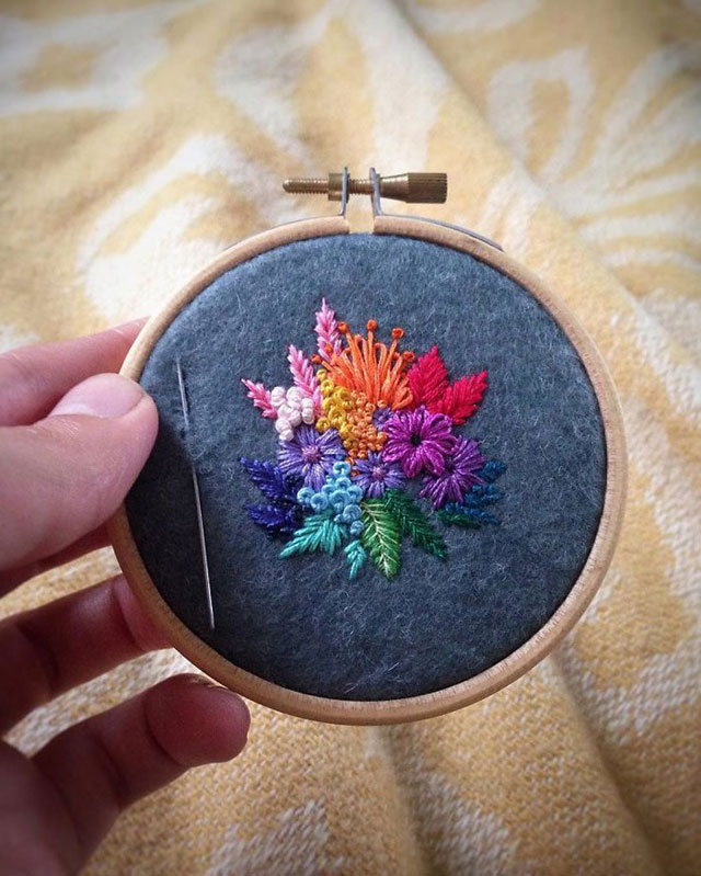 needle painting embroidery by vera shimunia 10 The Amazing Needle Painting of Vera Shimunia (15 Photos)