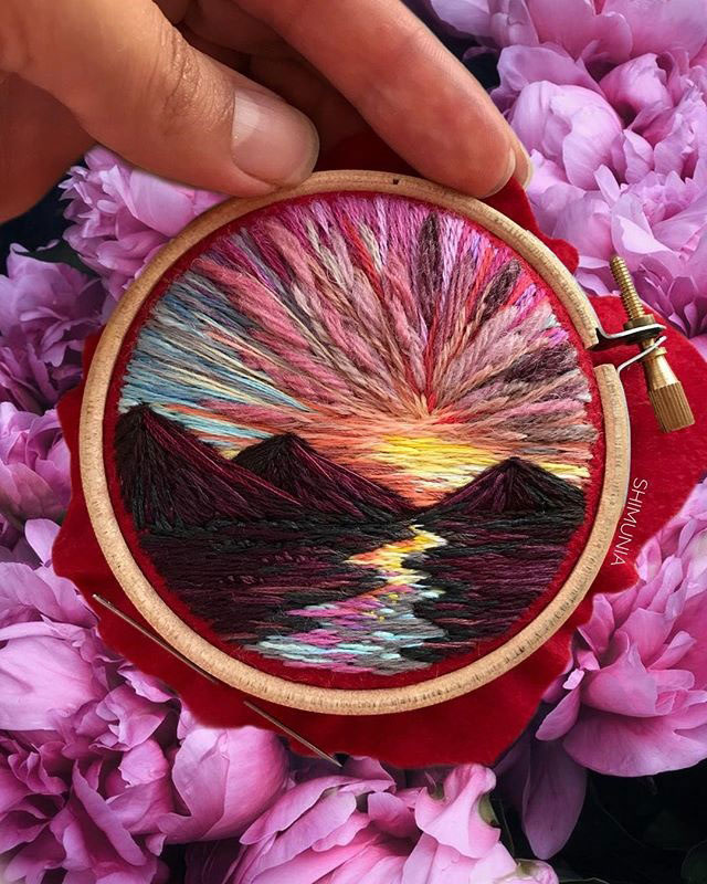 needle painting embroidery by vera shimunia 4 The Amazing Needle Painting of Vera Shimunia (15 Photos)
